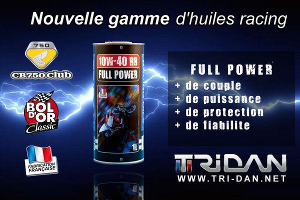 TRI-DAN FULL POWER 10W-40 RR : l'huile de la CB750 gagnante au Bold d'Or Classic